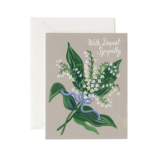 [Rifle Paper Co.] Lily of the Valley Sympathy Card 위로 카드