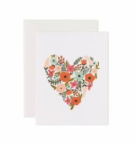 [Rifle Paper Co.] Floral Heart Card