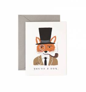 [Rifle Paper Co.] You're a Fox Card