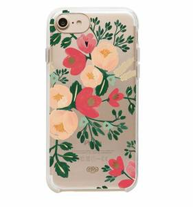 [Rifle Paper Co.] Clear Peach Blossom iPhone Case (iPhone 6/6s/7/8, 6+/7+/8+)